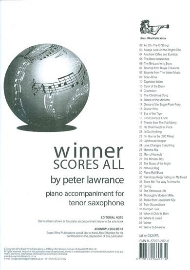 WINNER SCORES ALL Piano Accompaniment (Bb Edition)