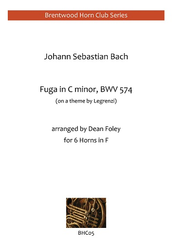 FUGA in C minor, BWV574 (score & parts)