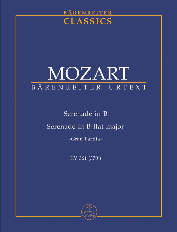 SERENADE No.10 in Bb major KV361, 'Gran Partita' (study score)
