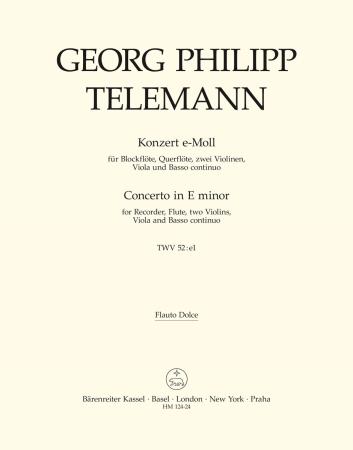CONCERTO in E minor solo recorder (flauto dolce)