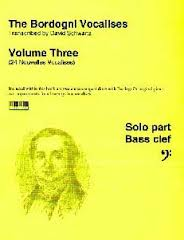 BORDOGNI VOCALISES Volume 3 bass clef + CD