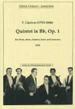 QUINTET in Bb major, Op.1 score & parts