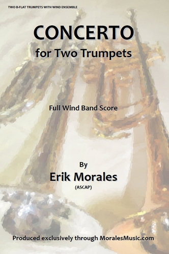 CONCERTO for Two Trumpets + CD (full score & parts)