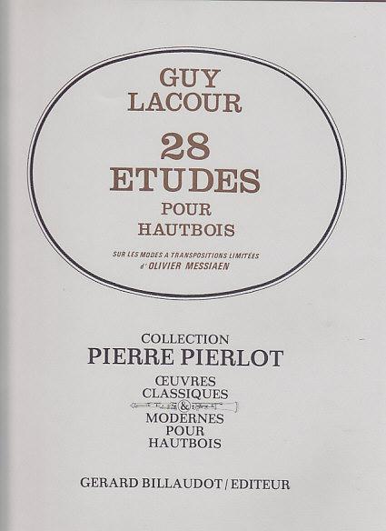 28 ETUDES sur les Modes a Transpositions Limitees d'Olivier Messiaen