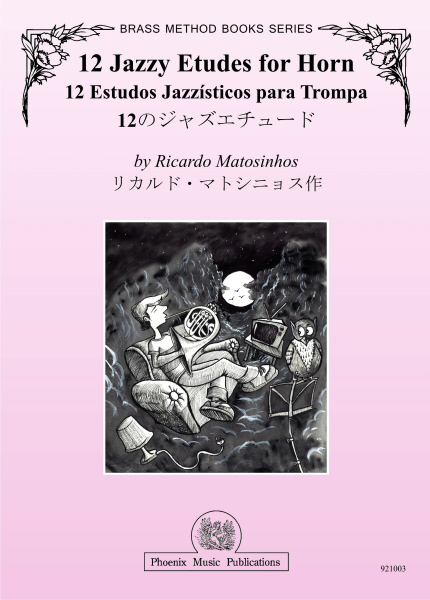 12 JAZZY ETUDES for Horn Book 1