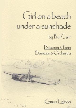 GIRL ON A BEACH UNDER A SUNSHADE