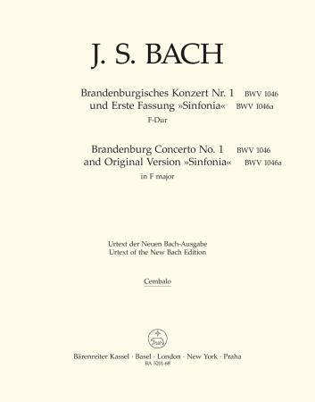 BRANDENBURG CONCERTO No.1 harpsichord/continuo