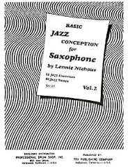 BASIC JAZZ CONCEPTION Volume 2 book only