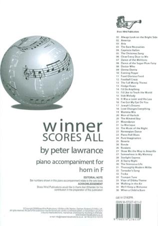 WINNER SCORES ALL Piano Accompaniment (F Edition)