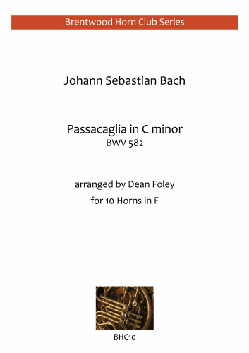 PASSACAGLIA in C minor, BWV582  (score & parts)
