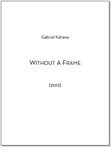WITHOUT A FRAME score & parts