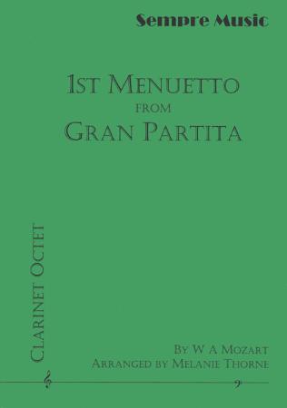 1ST MENUETTO from Gran Partita, K361 (score & parts)