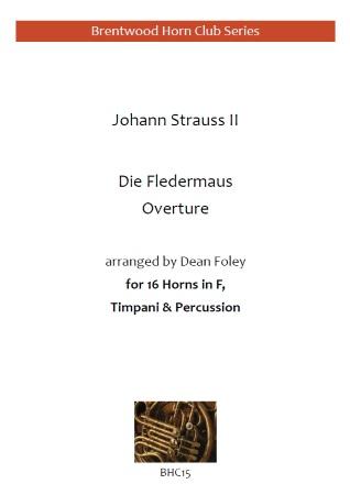 DIE FLEDERMAUS Overture (score & parts)