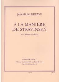 A LA MANIERE DE STRAVINSKY