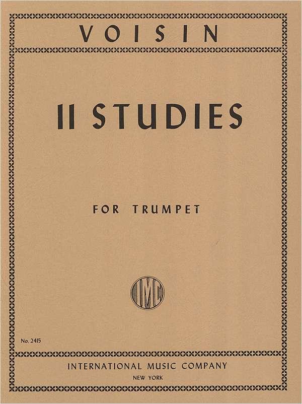 11 STUDIES Sheet Music | Voisin at June Emerson Wind Music