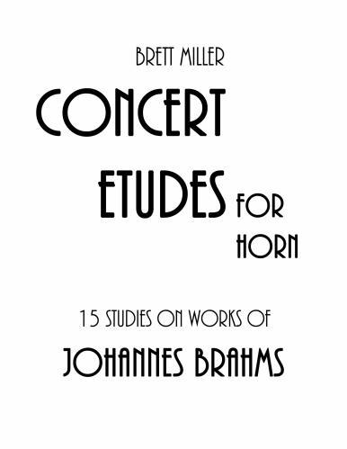 15 STUDIES on Works of Johannes Brahms