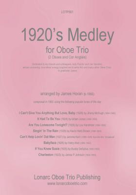 1920s MEDLEY (score & parts)