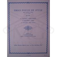 TROIS PIECES DE STYLE