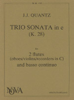 TRIO SONATA in e minor (K28)