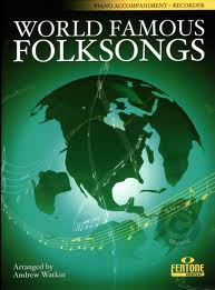 WORLD FAMOUS FOLKSONGS piano accompaniment