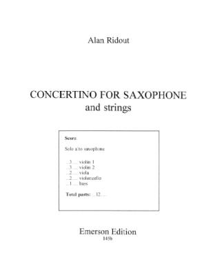 CONCERTINO FOR SAXOPHONE set of parts