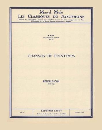 CHANSON DU PRINTEMPS