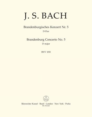 BRANDENBERG CONCERTO No.5 in D major BWV1050 Ripieno Double Bass