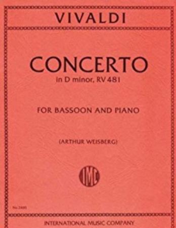 CONCERTO in d minor FVIII/5 PV282 RV481 Op.45/7