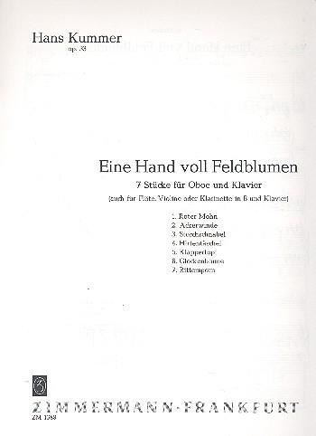 EINE HAND VOLL FELDBLUMEN 7 flower pieces