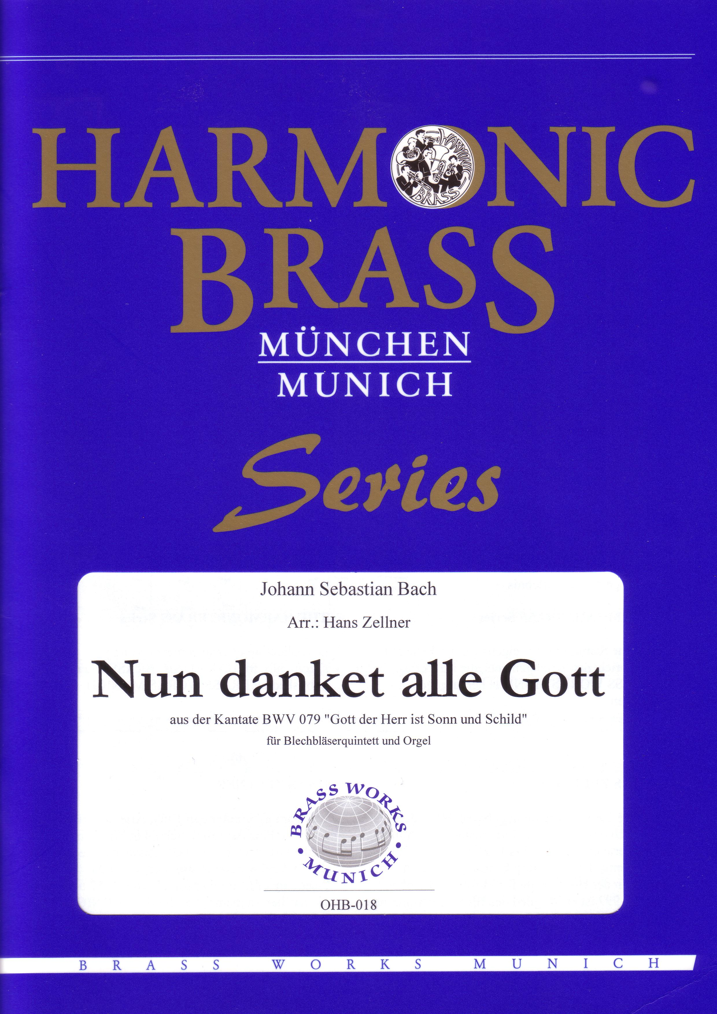 NUN DANKET ALLE GOTT score & parts