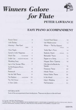 WINNERS GALORE Piano Accompaniment