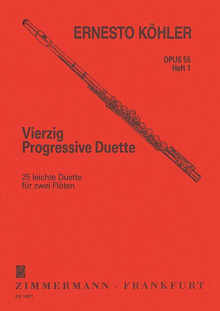 40 PROGRESSIVE DUETS Op.55 Volume 1