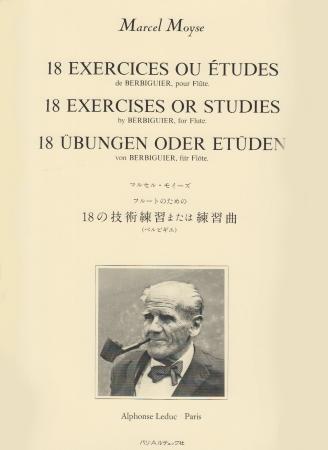 18 EXERCISES OR STUDIES by Berbiguier
