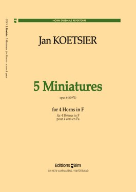 5 MINIATURES Op.64 score & parts