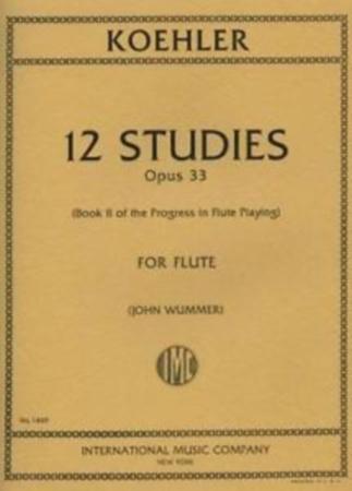 12 STUDIES Op.33 (Progress in Flute Playing Book 2)