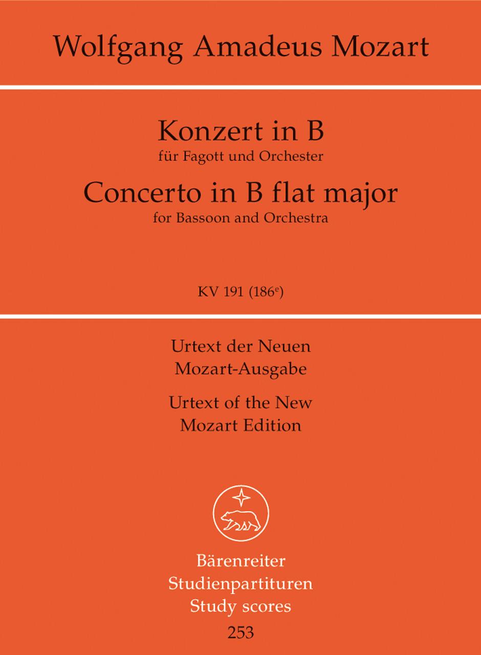 CONCERTO in Bb KV191 study score