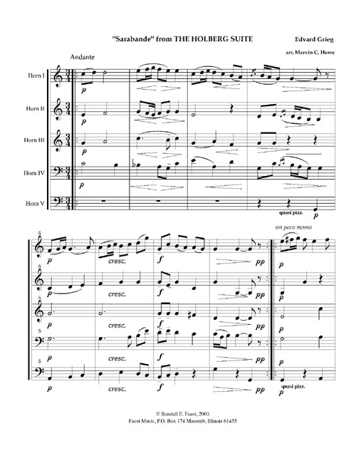 SARABANDE from the Holberg Suite