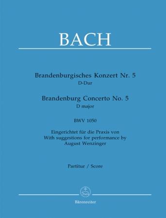 BRANDENBERG CONCERTO No.5 in D major score