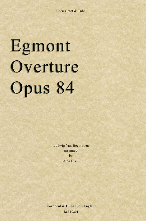 EGMONT OVERTURE (score & parts)