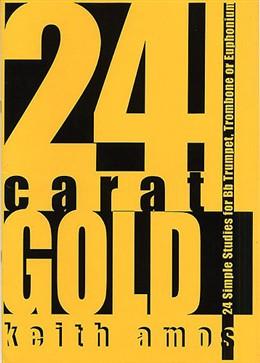 24 CARAT GOLD treble/bass clef