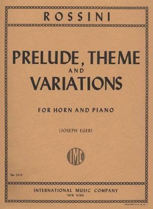 PRELUDE, THEME AND VARIATIONS
