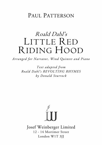 LITTLE RED RIDING HOOD (score & parts) with Narrator