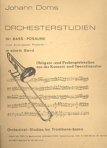 ORCHESTRAL STUDIES for Bass Trombone