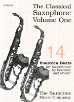 THE CLASSICAL SAXOPHONE 1: 14 Duets