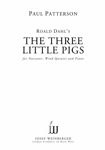 THE THREE LITTLE PIGS Op.92d (score & parts) with Narrator