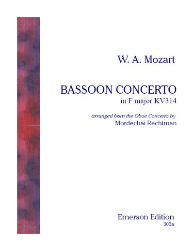 BASSOON CONCERTO KV314 set of parts