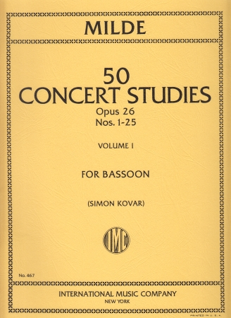 50 CONCERT STUDIES Op.26 Volume 1