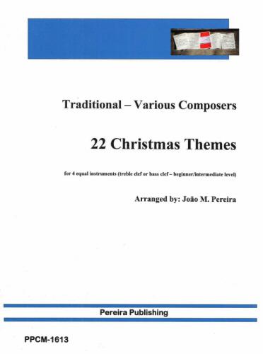 22 CHRISTMAS THEMES (treble/bass clef)