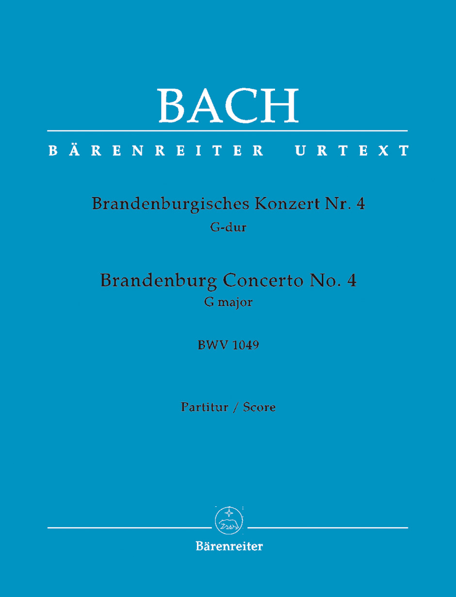 Brandeburg Concerto No.4 - Large Score paperback