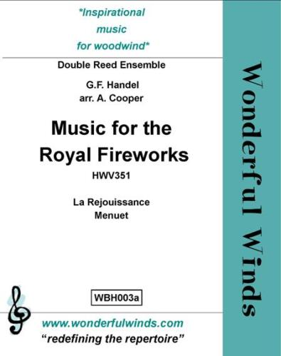 MUSIC FROM THE ROYAL FIREWORKS (score & parts)